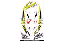 ALPINESTARS Bionic Neck Support SB Graphic Kit Jaune/Fluo/Blanc